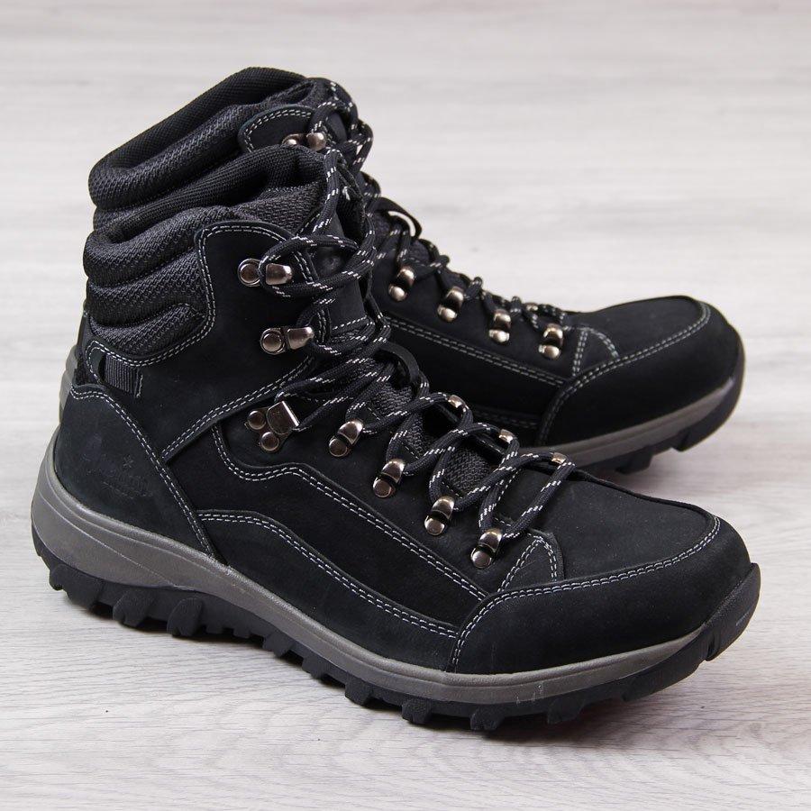 d48995110388c Trapery męskie skórzane trekkingowe czarne American Club 23150 za ...